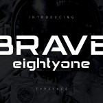 Brave Eighty One Display Typeface