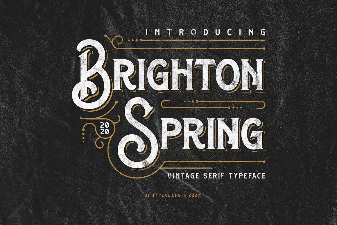 Brighton Spring Serif Font-1