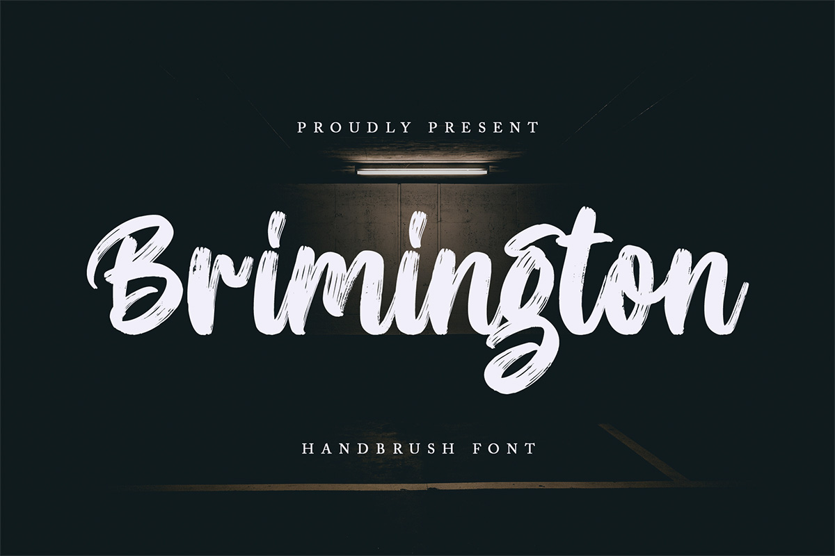 Brimington Handbrush Font-1