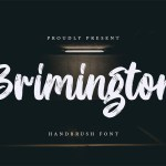Brimington Handbrush Font
