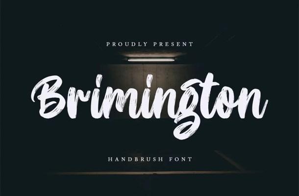 Brimington Handbrush Font