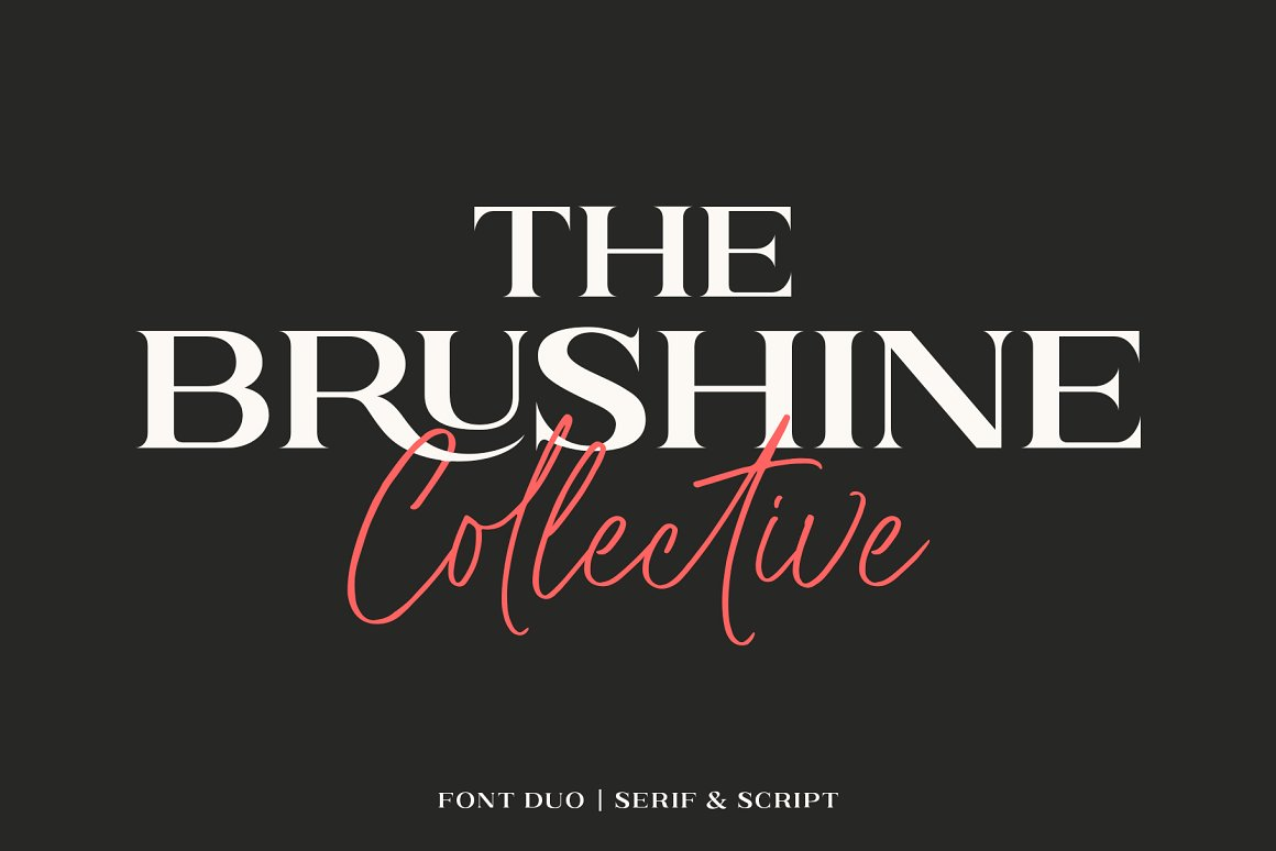 Brushine Collective Display Font Duo-1