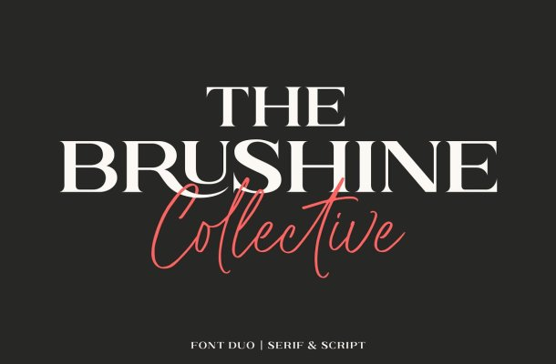 Brushine Collective Display Font Duo
