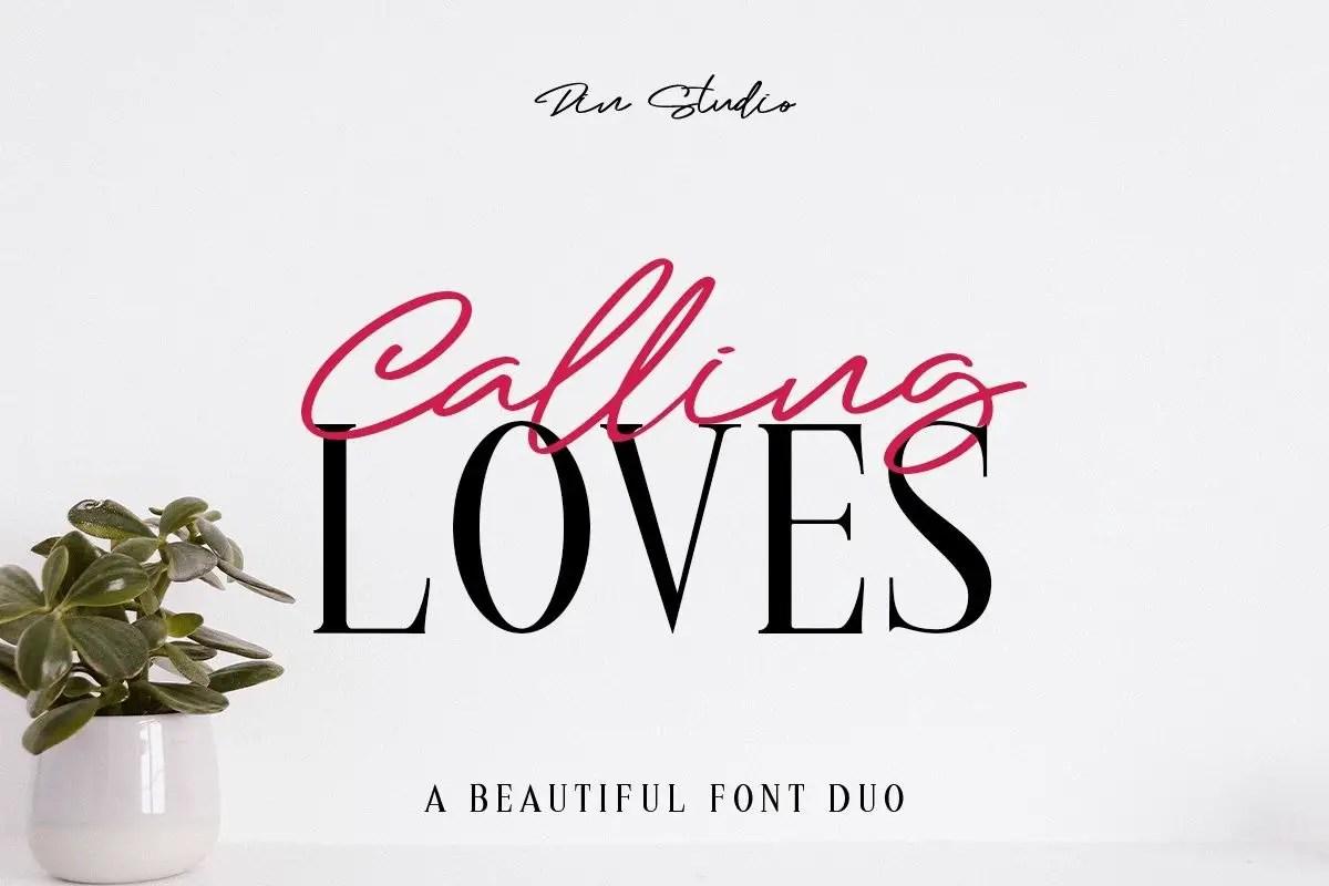 Calling Loves Script Font Duo-1 (1)