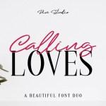 Calling Loves Script Font Duo
