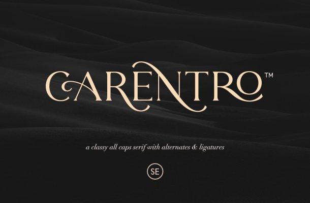 Carentro Classy Serif Typeface