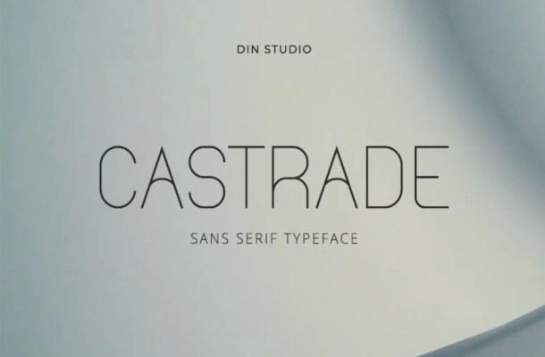 Castrade Sans Serif Typeface