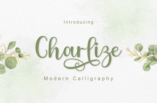 Charlize Calligraphy Script Font