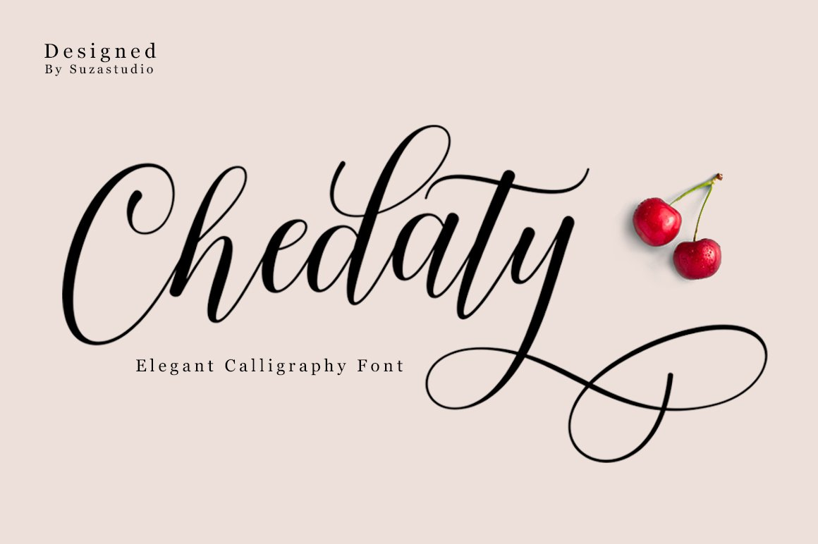 Chedaty Script Calligraphy Font-1
