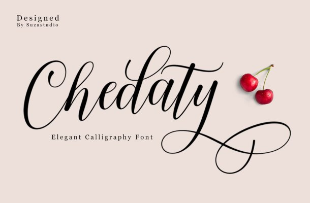 Chedaty Script Calligraphy Font
