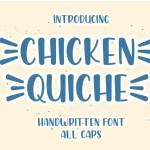 Chicken Quiche Handwritten Script Font