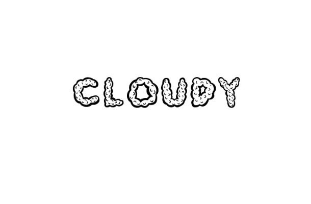 Cloudy Fancy Font
