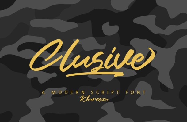 Clusive calligraphy Script Font