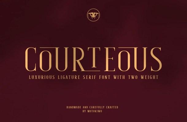 Courteous Ligature Serif Font