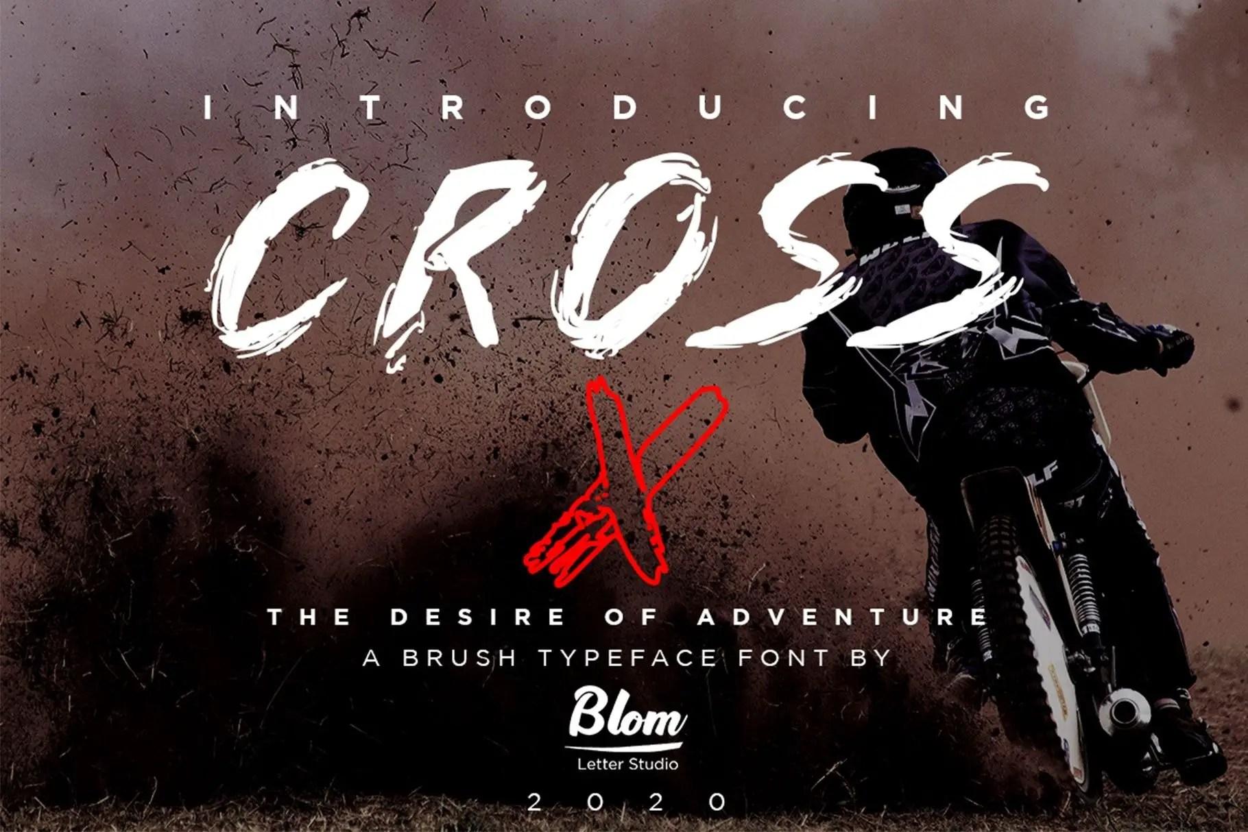 Cross X Brush Display Font-1 (1)