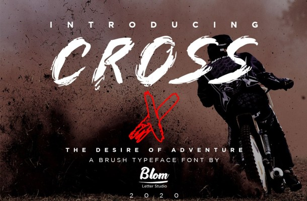 Cross X Brush Display Font