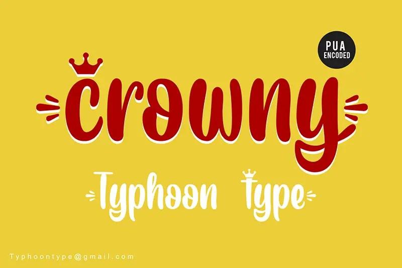 Crowny Script Font-1