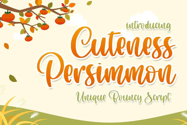 Cuteness Persimmon Handwritten Script Font-1