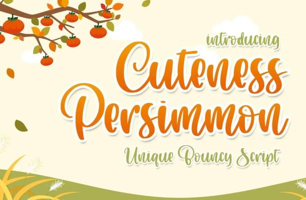Cuteness Persimmon Handwritten Script Font