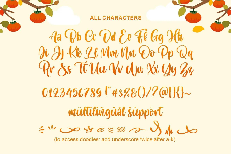 Cuteness Persimmon Handwritten Script Font-3