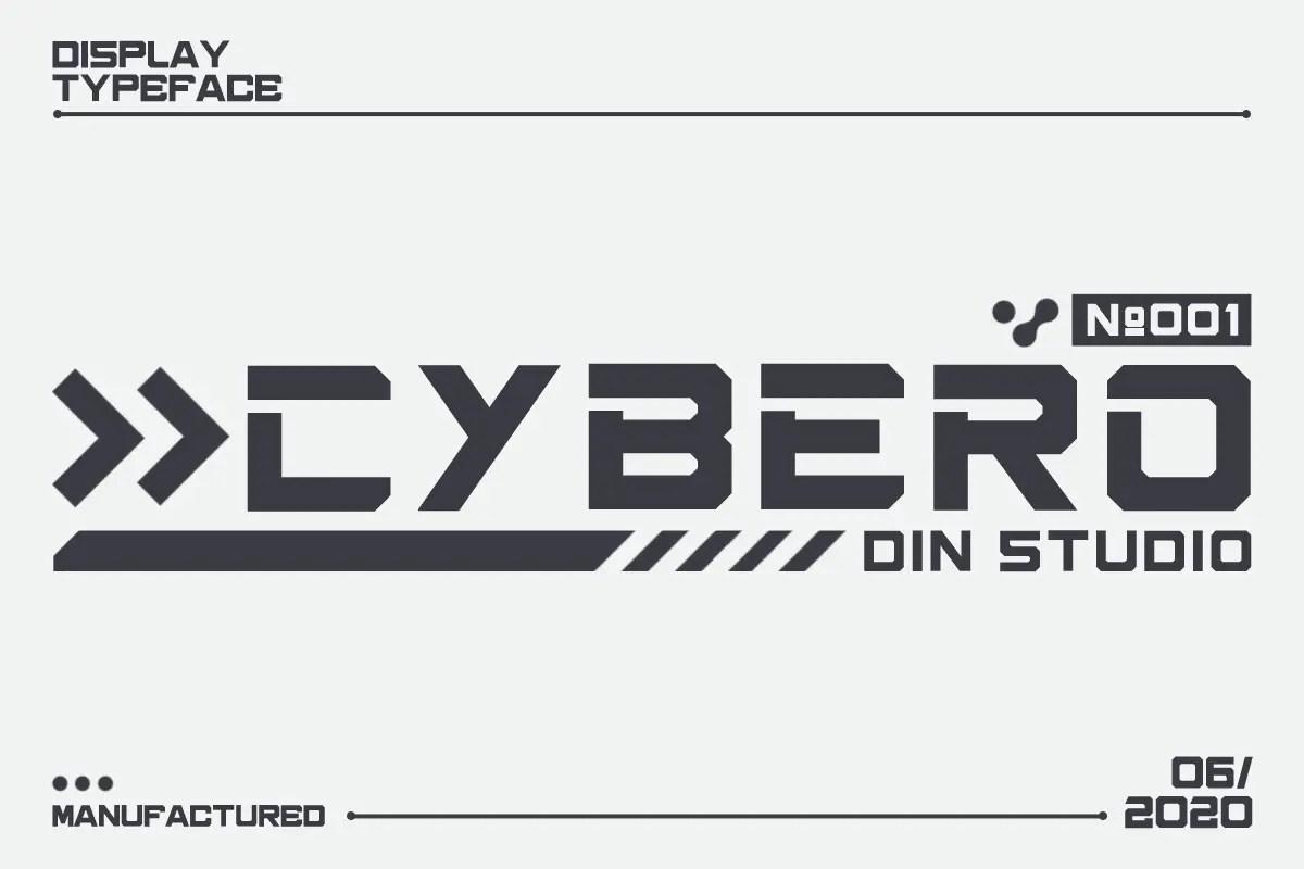 Cybero Display Typeface-1