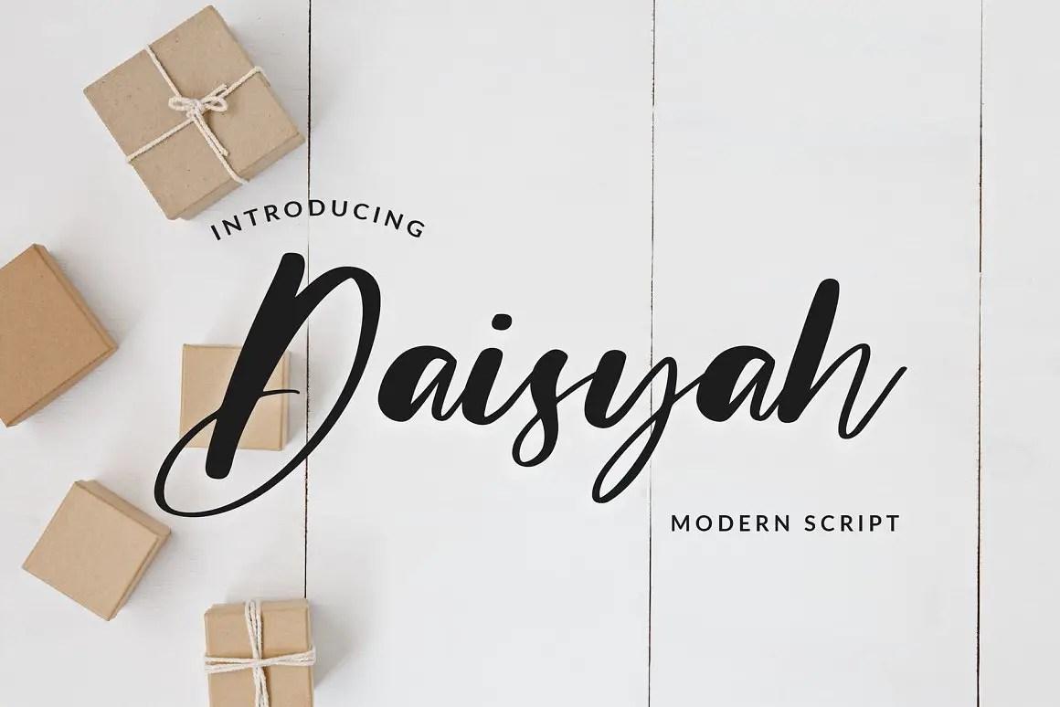 Daisyah Modern Calligraphy Script Font-1