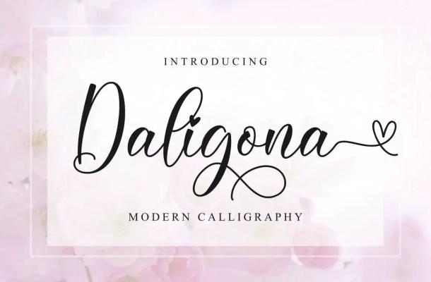 Daligona Calligraphy Script Font