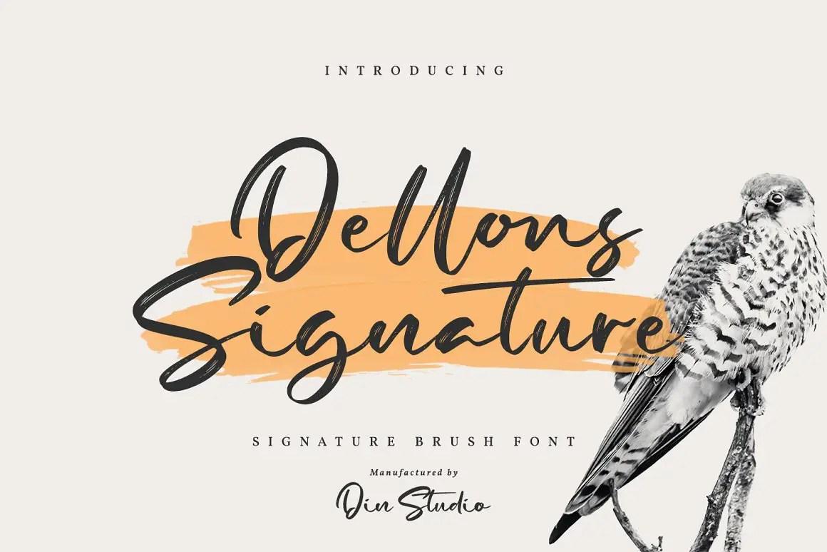 Dellons Signature Elegant Brush Font-1