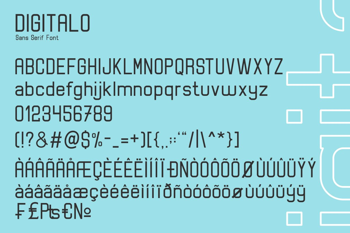 Digitalo Sans Serif Font-3