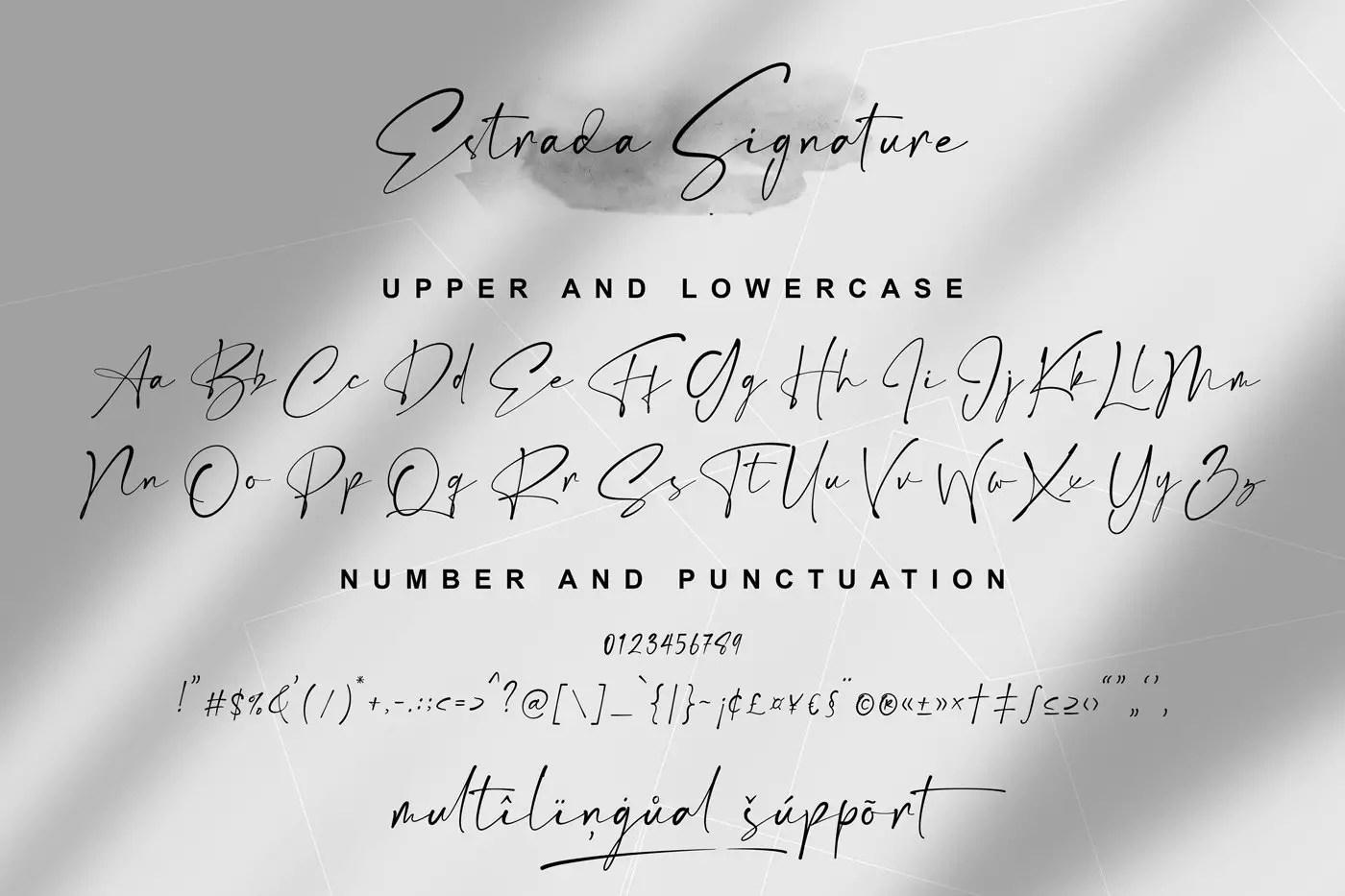 Estrada Luxury Signature Font-3