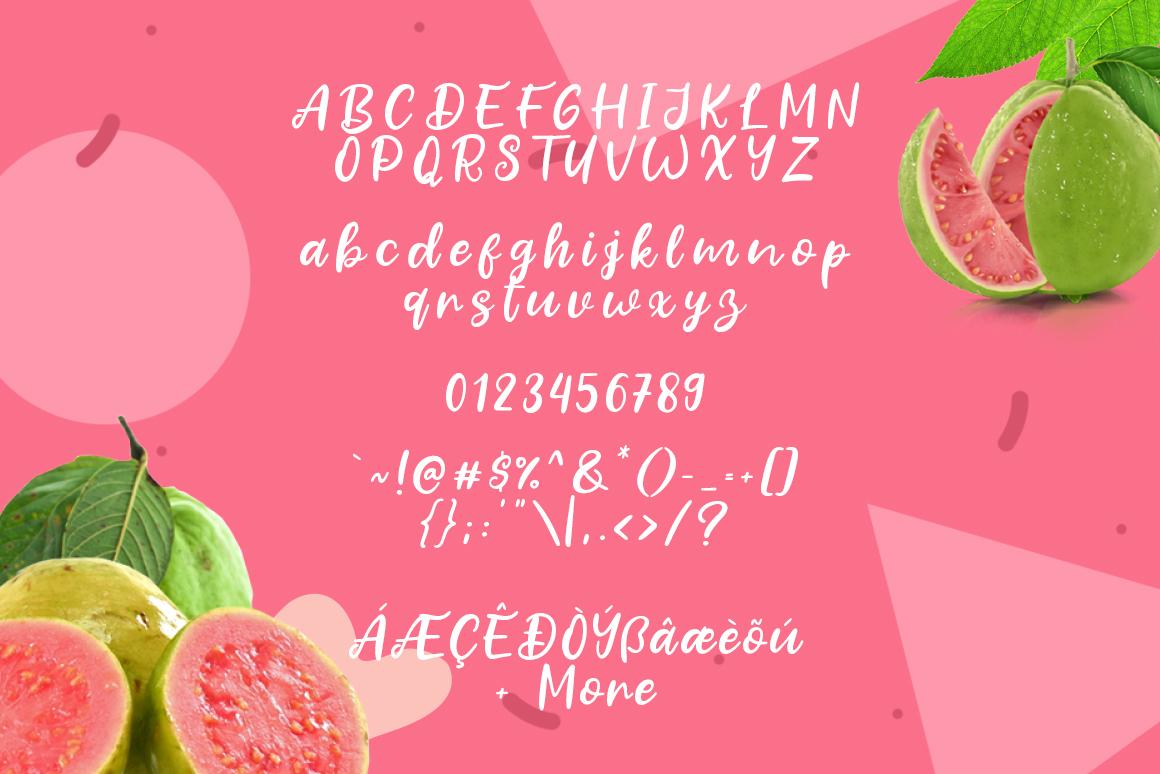 Fresh Guava Bold Script Font-3
