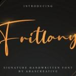 Fritlany Signature Handwritten Font