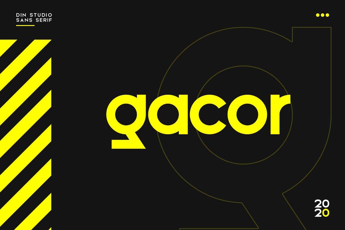 Gacor Urban Sans Serif Font-1