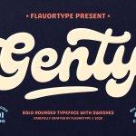 Genty Bold Rounded Typeface
