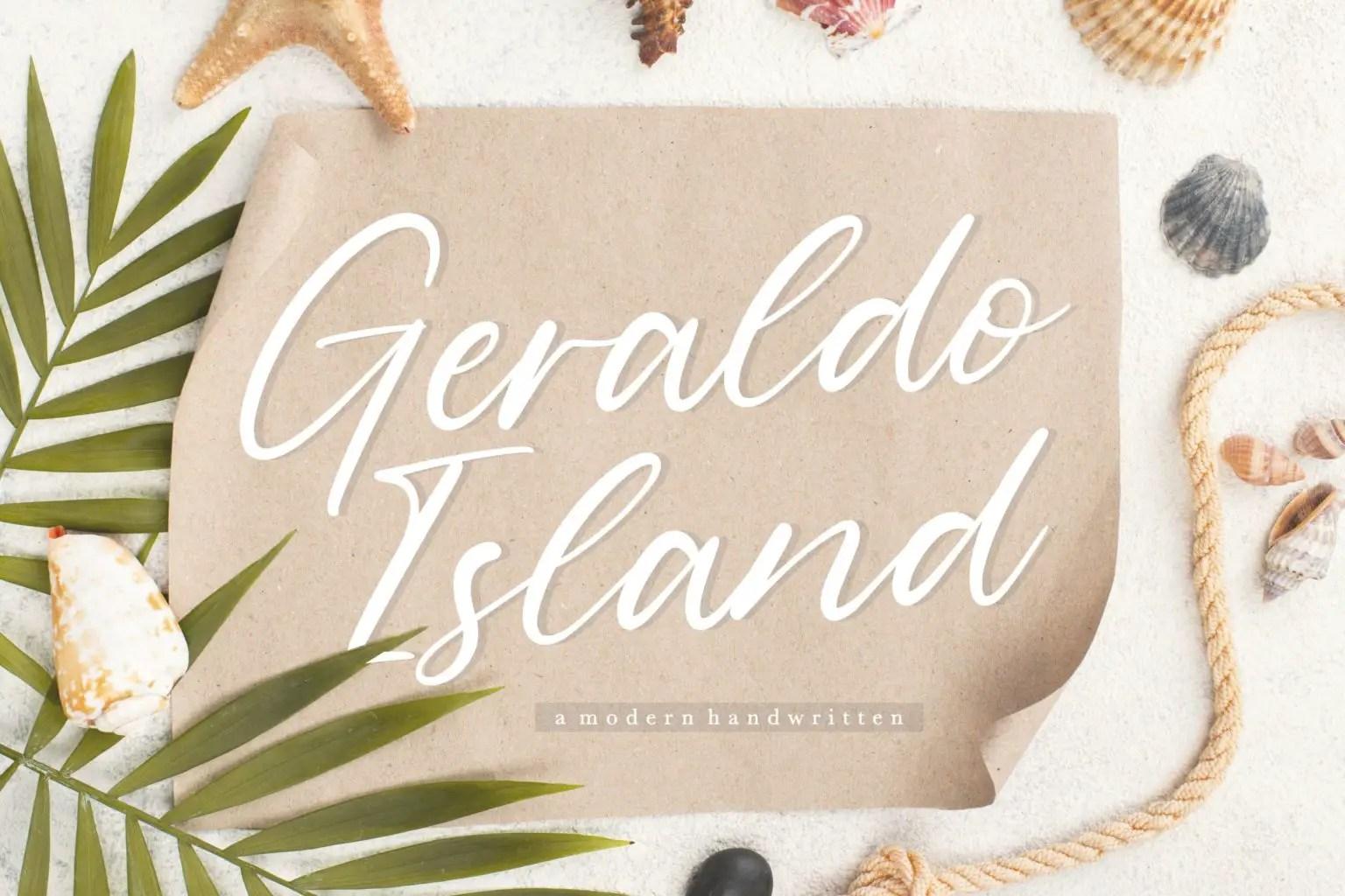 Geraldo Island Modern Handwritten Script Font-1