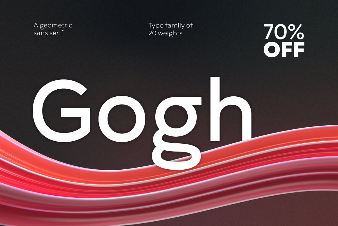 Gogh Geometric Sans Serif Typeface-1