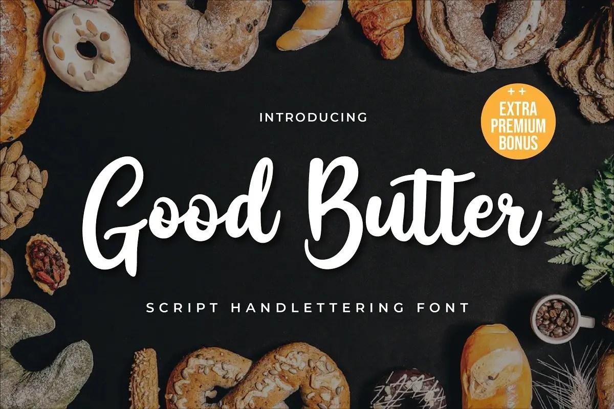 Good Butter Handwritten Script Font-1
