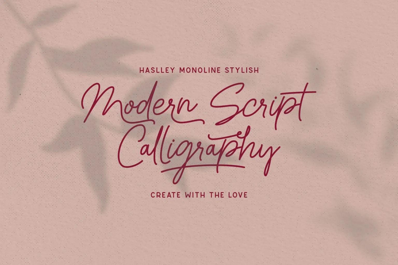 Haslley Beautiful Calligraphy Script Font-2