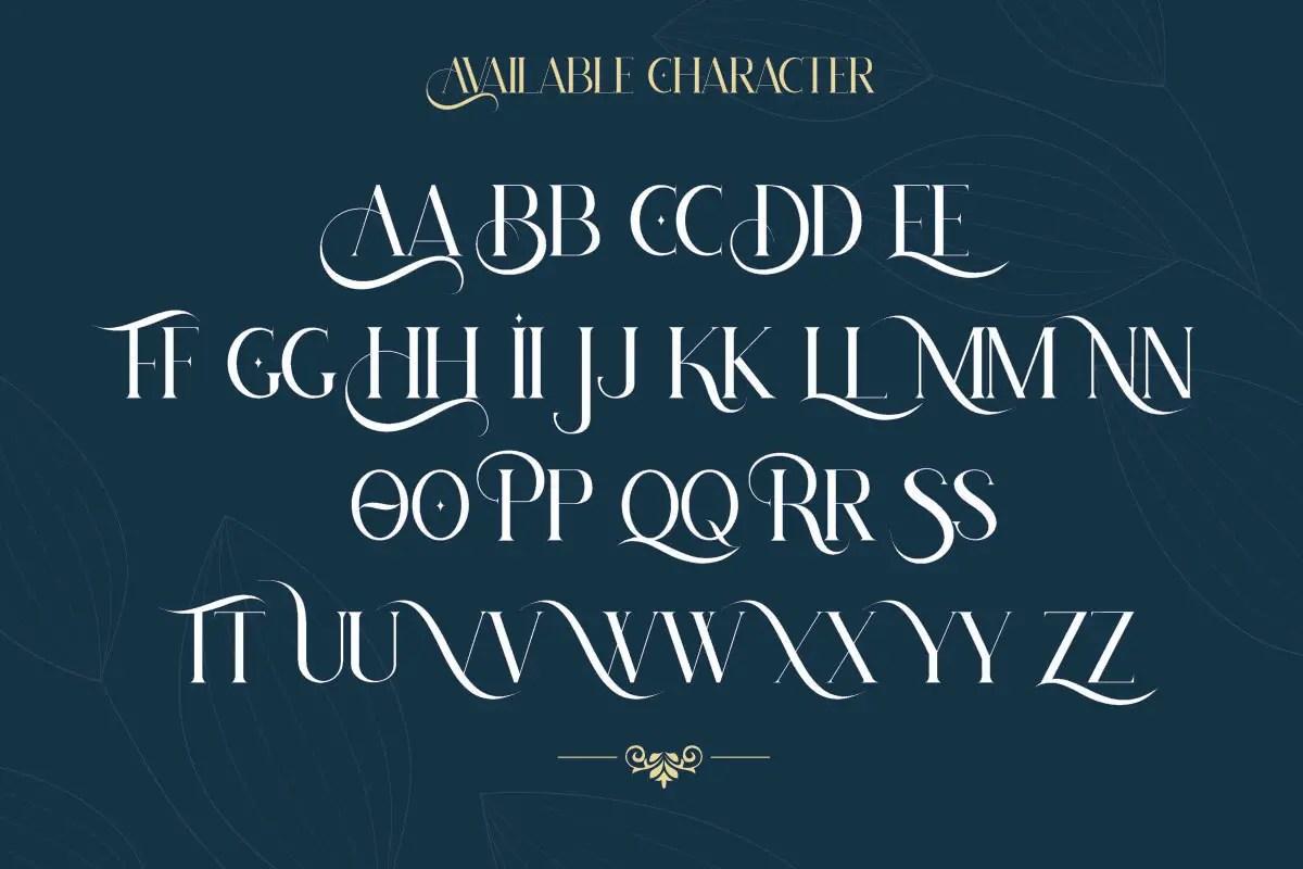 Hatolie - Elegant And Luxuries Typeface-3
