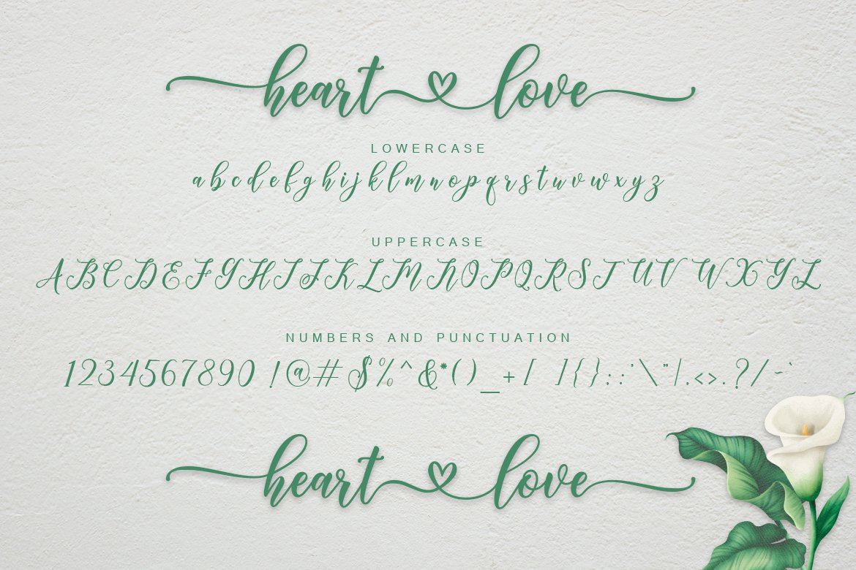 Heart Love Calligraphy Script Font-3