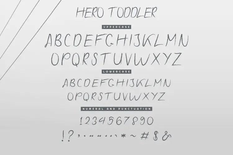 Hero Toddler Font Duo Family-4