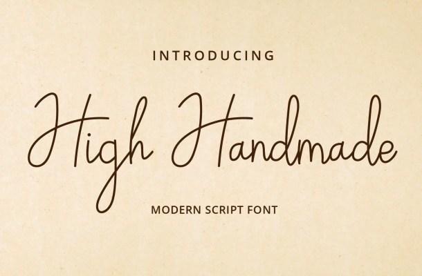 High Handmade Handwritten Script Font