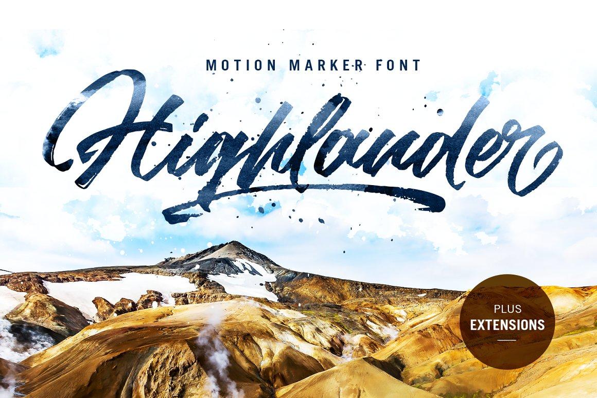 Highlander Marker Script Brush Font-1