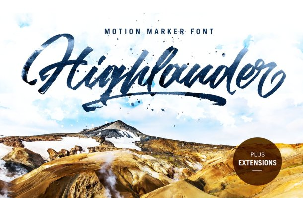 Highlander Marker Script Brush Font