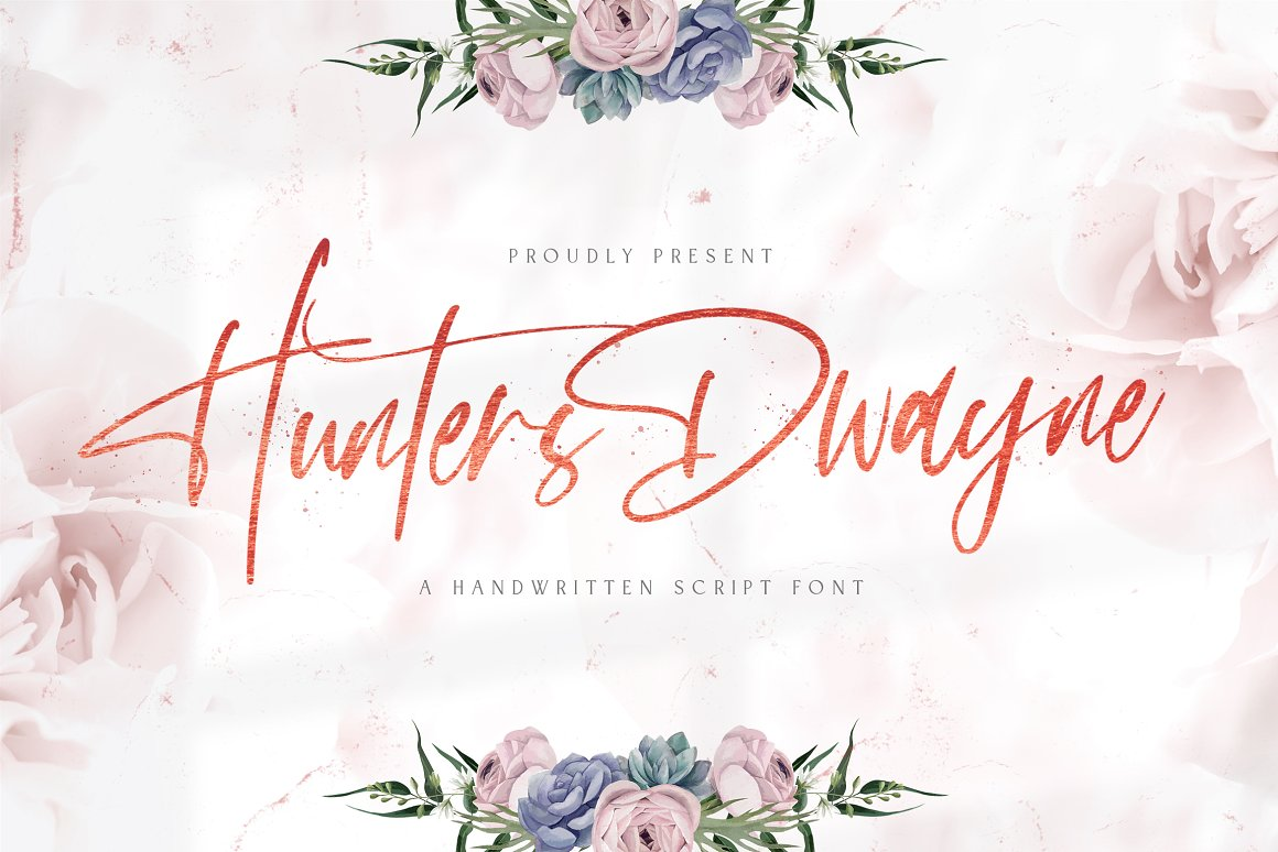 Hunthers Dwayne Handwritten Font-1