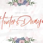 Hunthers Dwayne Handwritten Font