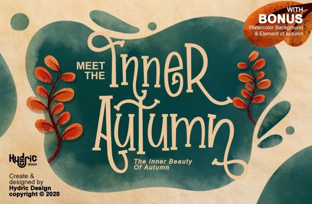 Inner Autumn Fall Display Typeface