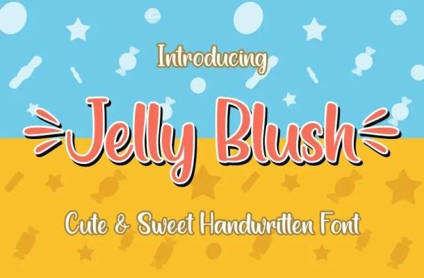 Jelly Blush Handwritten Script Font