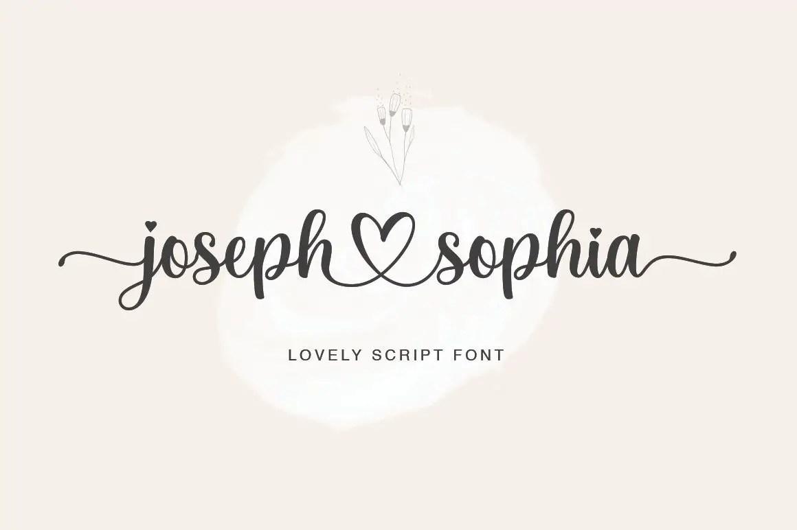Joseph Sophia Calligraphy Script Font-1 (1)
