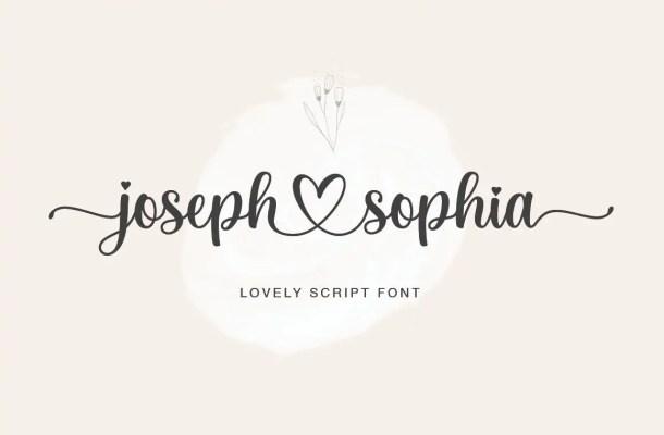 Joseph Sophia Calligraphy Script Font